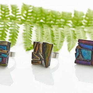 Eozin mozaik gyűrű